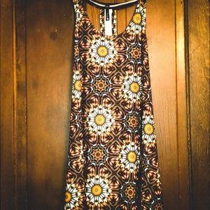 Viereck Brown Hippie Microfiber Flare Dress NWT